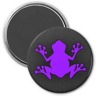 Violet Purple Frog 7.5 Cm Round Magnet