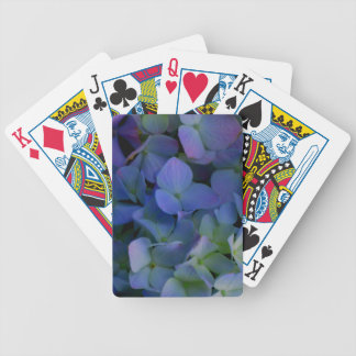 Violet purple hydrangeas bicycle playing cards