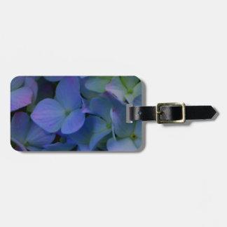 Violet purple hydrangeas luggage tag