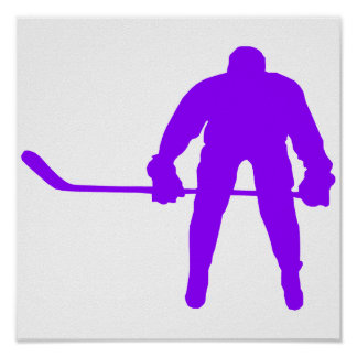 Violet Purple Ice Hockey Poster