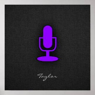 Violet Purple Microphone Print