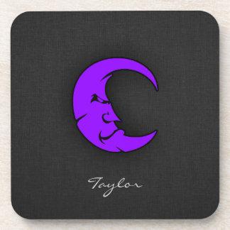 Violet Purple Moon Coaster