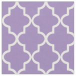Violet Purple Moroccan Quatrefoil Fabric