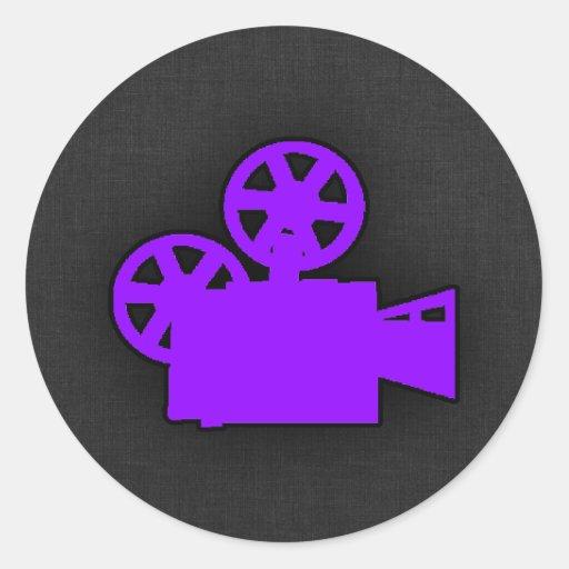 Violet Purple Movie Camera Stickers
