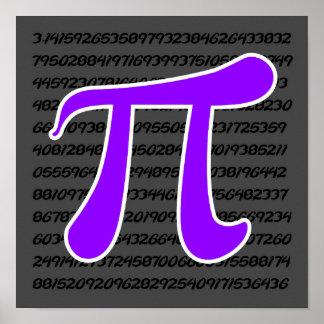Violet Purple Pi Symbol Poster