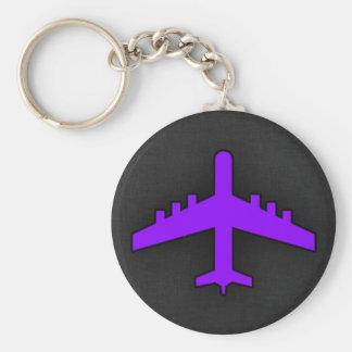 Violet Purple Plane; Pilot Keychains