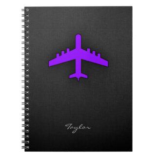 Violet Purple Plane; Pilot Note Books