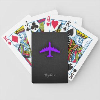 Violet Purple Plane; Pilot Poker Deck