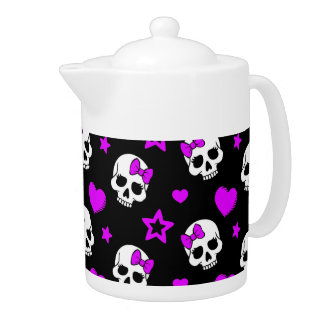 Violet Purple Punk Rock Skulls