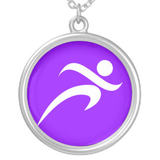 Violet Purple Running Necklaces