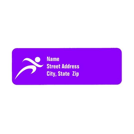 Violet Purple Running Return Address Label