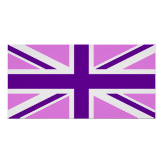 Violet Purple Union Jack Poster