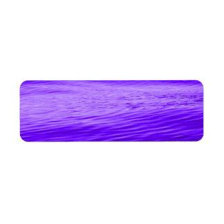 Violet Purple Water Return Address Label