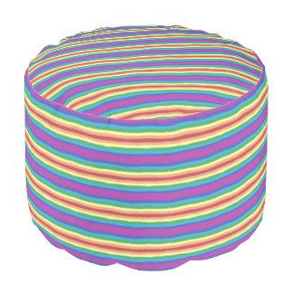 Violet Rainbow Pouf
