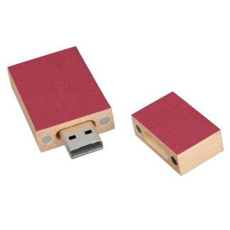 Violet Red Solid Color Wood USB 2.0 Flash Drive