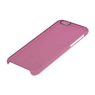 Violet Red Solid Colour Clear iPhone 6/6S Case