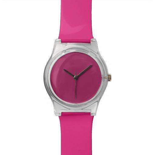 Violet Red Wrist Watch