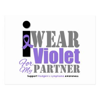 Violet Ribbon Partner - Hodgkin's Lymphoma Postcard