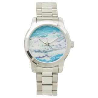 Violet River Oversized Silver Bracelet Watch