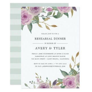 Violet & Sage Rehearsal Dinner Invitation