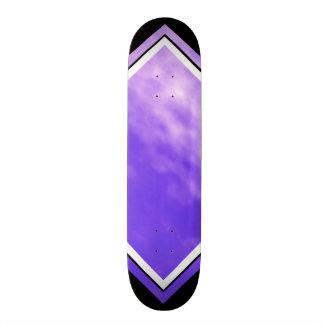 Violet Skies Clouds Purple Black Customizable Deck Skate Board