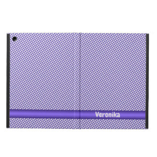 Violet small plaid pattern. Add name. Cover For iPad Air