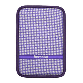 Violet small plaid pattern. Add name. iPad Mini Sleeve
