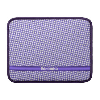 Violet small plaid pattern. Add name. Sleeve For MacBook Air