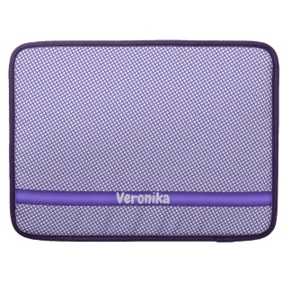 Violet small plaid pattern. Add name. Sleeve For MacBook Pro