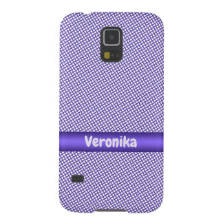 Violet small plaid pattern. cases for galaxy s5