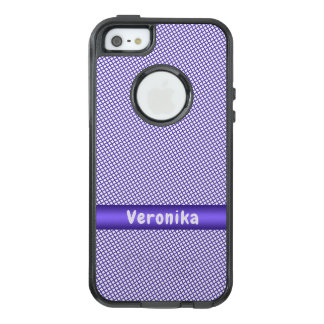 Violet small plaid pattern. OtterBox iPhone 5/5s/SE case