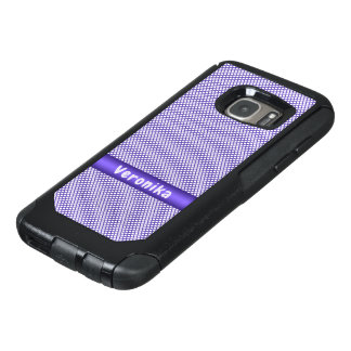 Violet small plaid pattern. OtterBox samsung galaxy s7 case