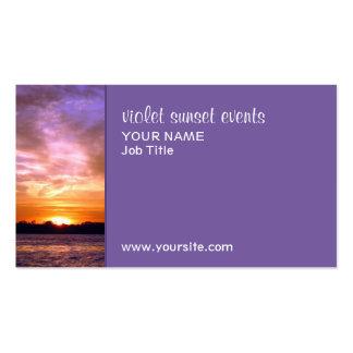 Violet Sunset Business Card