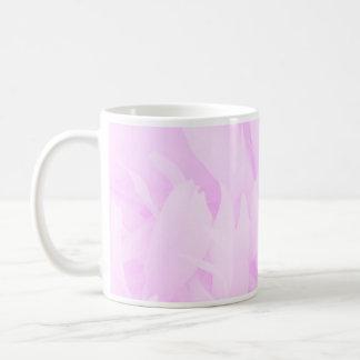 Violet swirls and floral design mugs