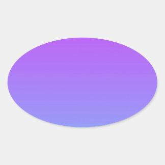 violet teal fade oval sticker