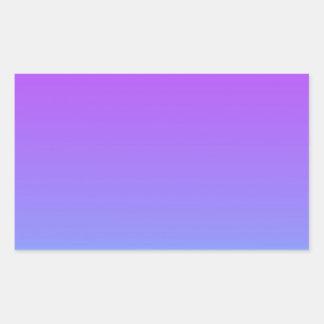 violet teal fade rectangular sticker