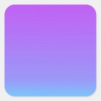violet teal fade square sticker