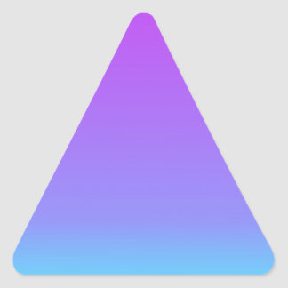 violet teal fade triangle sticker