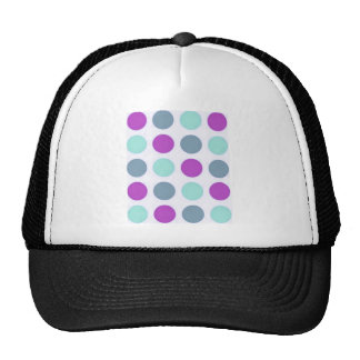 Violet Teal Polkadots Trucker Hats