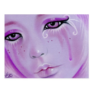 Violet Tears Sad Girl Postcard