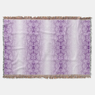 violet throw blanket