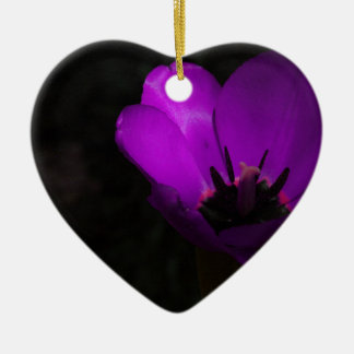 Violet Tulip Christmas Tree Ornaments