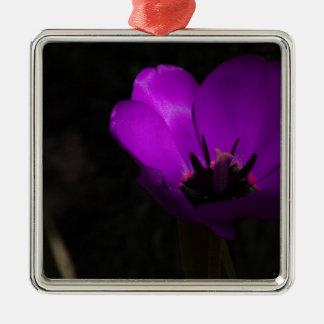 Violet Tulip Christmas Tree Ornaments