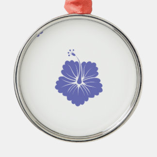 Violet Tulip Flower Pattern 3 Christmas Ornaments