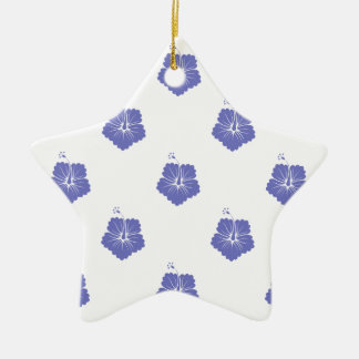 Violet Tulip Flower Pattern 3 Christmas Tree Ornaments