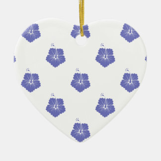 Violet Tulip Flower Pattern 3 Christmas Tree Ornament