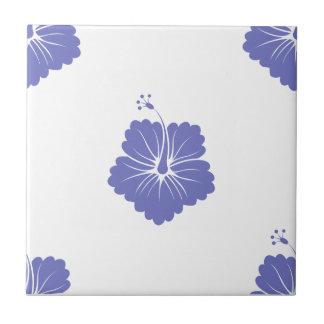 Violet Tulip Flower Pattern 3 Ceramic Tile