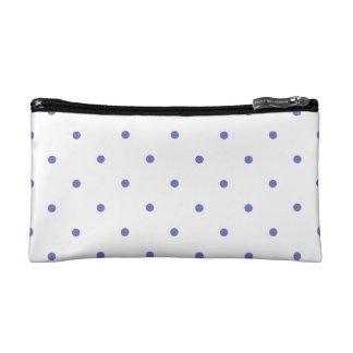 Violet Tulip Polkadots Small Cosmetics Bags
