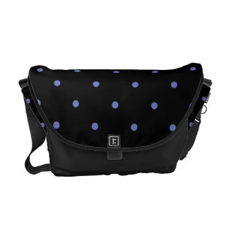 Violet Tulip Polkadots Small Courier Bag