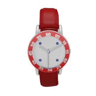 Violet Tulip Polkadots Small Wristwatch